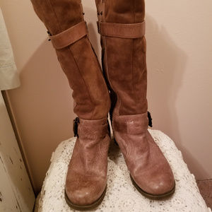 Bare Traps Knee Heigh Womens Leather Boots 9.5